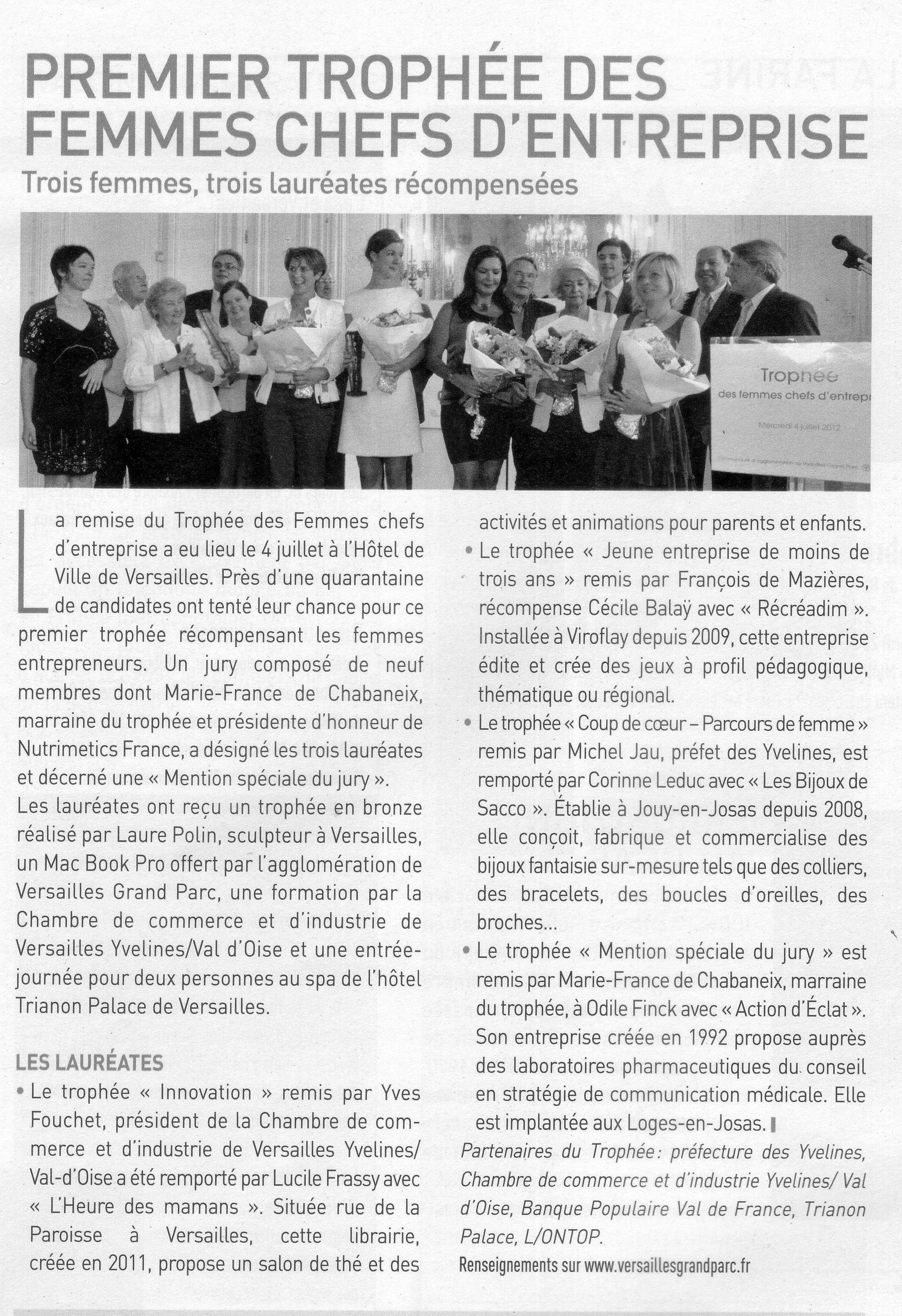 Trophée Versailles Magazine