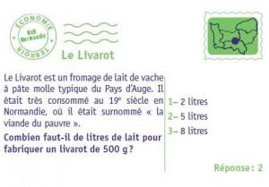 Exemple de carte Le livarot