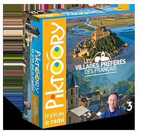 Boîte du jeu Piktoory, les villages préférés des Français